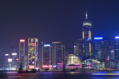 Hong Kong night view at Christmas Stock Photography
