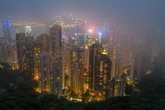 Hong kong at the night Royalty Free Stock Photos