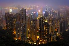 Hong kong at the night Royalty Free Stock Images