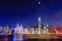 Hong Kong night view Stock Image