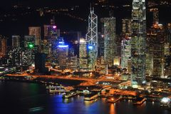 Hong Kong night view Stock Photography