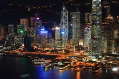 Hong Kong night view Stock Photography