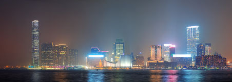 Hong Kong night view Stock Photos
