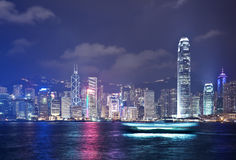 Hong Kong at night Stock Photography