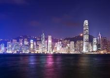 Hong Kong at night Royalty Free Stock Photos