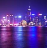 Hong Kong at night. View of Victoria Harbour of Hong Kong at night Royalty Free Stock Photos
