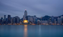 ?Victoria Harbour , Hong Kong at night Royalty Free Stock Photography