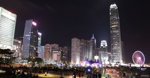 Hong Kong nightscape Stock Photos