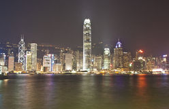 Hong Kong nightview Stockbild