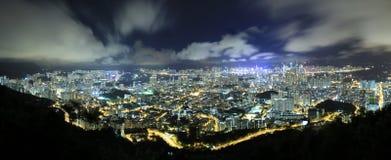Hong Kong Nignt Immagine Stock Libera da Diritti
