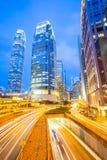 Hong Kong no crepúsculo Imagens de Stock