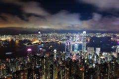 Hong Kong noc Obraz Stock