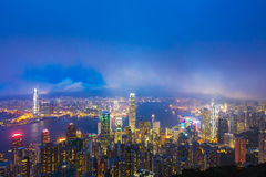 hong kong noc Obraz Royalty Free