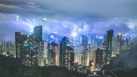 hong kong noc Obrazy Stock