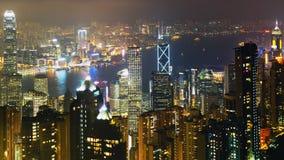 hong kong noc scena Obrazy Royalty Free
