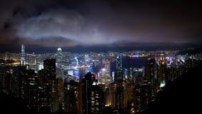 hong kong noc widok Obraz Stock