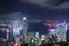 hong kong noc widok Zdjęcia Royalty Free