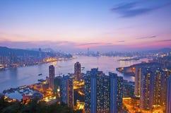 hong kong noc widok Zdjęcie Royalty Free