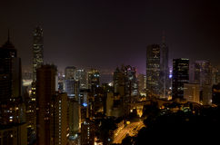 hong kong nocy linia horyzontu Obraz Stock
