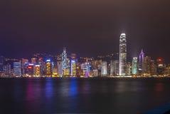 hong kong nocy linia horyzontu Obraz Royalty Free