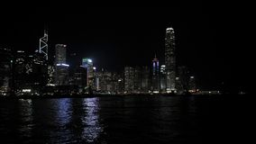Hong Kong nocy miasta głąbik zdjęcie royalty free