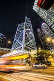 Hong Kong nocy pośpiech Obraz Royalty Free