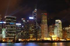 hong kong nocy scena Fotografia Royalty Free