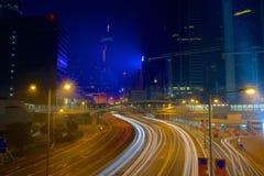 Hong Kong nocy ulica obrazy royalty free