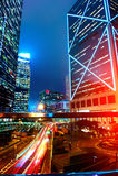 Hong Kong nocy widok Obraz Stock