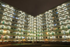 HONG KONG - NOV 14: Night view of Nam Shan Estate at Shek Kip Mei, Kowloon, Hong Kong Stock Photos