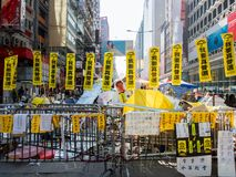 HONG KONG,NOV. 22: Roadblock is set up to prevent police to cond Stock Images