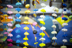 HONG KONG - NOV 7: umbrella origami decoration in occupy central campaign at Admiralty, Hong Kong royalty free stock images