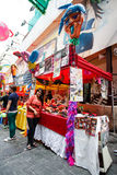 HONG KONG - NOVEMBER 26 2013: The busy LKF (Lan Kwai Fong Festiv Stock Photography