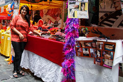HONG KONG - NOVEMBER 26 2013: The busy LKF (Lan Kwai Fong Festiv Stock Image