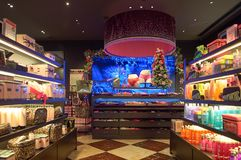 Victoria's Secret store. HONG KONG - NOVEMBER 02, 2015: inside a Victoria's Secret store in Hong Kong. Victoria's Secret is the largest American retailer of Stock Photography