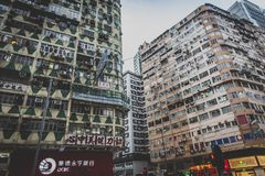 Hong Kong, November 2018 - mooie stad stock fotografie