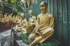 Hong Kong, novembre 2018 - homme gros Sze de monastère de Buddhas de dix-millièmes image libre de droits