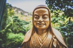 Hong Kong, noviembre de 2018 - hombre Sze gordo del monasterio de Buddhas de los diez milésimos imágenes de archivo libres de regalías