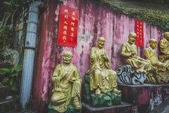 Hong Kong, noviembre de 2018 - hombre Sze gordo del monasterio de Buddhas de los diez milésimos fotografía de archivo