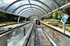 Hong Kong Ocean Park escalator Royalty Free Stock Photo