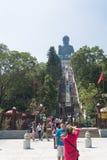 HONG KONG -2015  Oct 17: Tian Tan Giant Buddha from Po Lin Monas Royalty Free Stock Photos