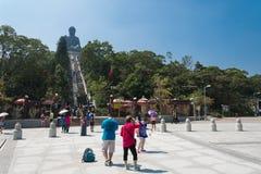 HONG KONG -2015  Oct 17: Tian Tan Giant Buddha from Po Lin Monas Royalty Free Stock Images