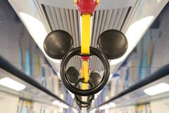 Mickey Mouse handle in the MTR Disney theme in Hong Kong royalty free stock image