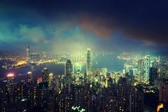 Hong kong od Wiktoria szczytu Obraz Stock
