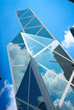 Hong Kong office building. Hong Kong skyscraper direct to the sky stock photography
