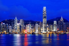 Hong kong office buildings Stock Photos