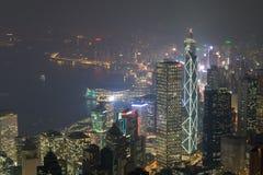 Hong Kong, 2015 am 15. Oktober Hong Kong-Skylinestadt Lizenzfreie Stockbilder