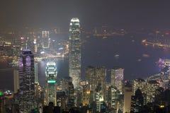 Hong Kong, 2015 am 15. Oktober Hong Kong-Skylinestadt Stockfoto