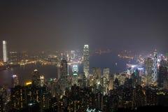 Hong Kong, 2015 am 15. Oktober Hong Kong-Skylinestadt Stockbild