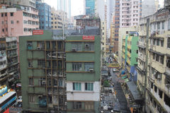Hong Kong Old Residential Area, Lizenzfreie Stockfotografie